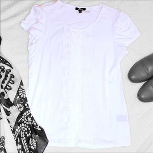 White Shirt with Lace Detailing